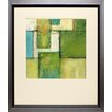 North American Art 'Green Space II' by Beverly Crawford Framed Painting Print
