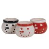 Oddity Inc. Snowman Candy Bowl (Set of 3)