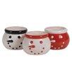 Oddity Inc. Snowman Decorative Bowl (Set of 3)