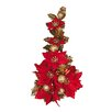 <strong>Poinsettia Ball Ribbon Candle Climber (Set of 6)</strong> by Oddity Inc.