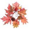 Oddity Inc. Fall Pumpkin Maple Leaf Candle Ring (Set of 2)