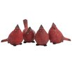Oddity Inc. Decorative Resin Cardinals Figurine (Set of 4)