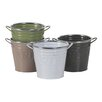 Oddity Inc. Decorative Metal Buckets (Set of 4)