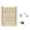 Samson Solid Surface Three Panel Shower Wall Kit