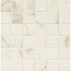 """Bedrosians Marmi Di Napoli 2"""" x 2"""" Porcelain High-Gloss Mosaic in Calacatta"""