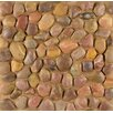 Bedrosians Hemisphere Random Sized Pebble Stone Polished Mosaic Tile in Henna Red