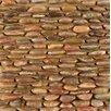 Bedrosians Hemisphere Stacked Pebble Random Sized Stone Polished Mosaic in Henna Red