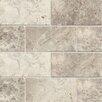 """Bedrosians Honed 3"""" x 6"""" Marble Tile in Sebastian Gray"""
