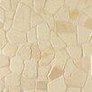 Bedrosians Hemisphere Random Sized Crazy Stone Mosaic Tile in Bali White