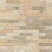"""Bedrosians Rok 1"""" x 3"""" Porcelain Mosaic Tile in Mix Colors"""