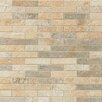 "Bedrosians Rok 3"" x 1"" Porcelain Mosaic in Mix Colors"