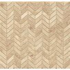 "Bedrosians Chevron 12"" x 12"" Marble Polished Mosaic Tile in Cappuccino"