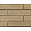 """Bedrosians Shizen Staggered Joint 8"""" x 2"""" Porcelain Mosaic in Ravine"""