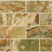 """Bedrosians Onyx 6"""" x 3"""" Marble Polished Mosaic in Palisades Green"""