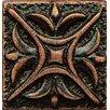 """Bedrosians Ambiance Insert Rising Star 1"""" x 1"""" Resin Tile in Venetian Bronze"""
