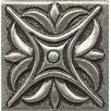 "Bedrosians Ambiance Insert Rising Star 2"" x 2"" Resin Tile in Pewter"