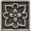 "Bedrosians Ambiance Insert Romanesque 1"" x 1"" Resin Tile in Pewter"