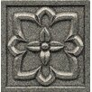 "Bedrosians Ambiance Insert Romanesque 4"" x 4"" Resin Tile in Pewter"