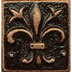"Bedrosians Ambiance Insert Flor De Lis 1"" x 1"" Resin Tile in Venetian Bronze"
