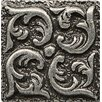 "Bedrosians Ambiance Insert Wave 1"" x 1"" Resin Tile in Pewter"