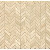 "Bedrosians Chevron 12"" x 12"" Marble Polished Mosaic Tile in Crema Marfil"
