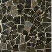 Bedrosians Hemisphere Random Sized Crazy Stone Glazed Mosaic Tile in Black Lava