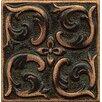 "Bedrosians Ambiance Insert Wave 2"" x 2"" Resin Tile in Venetian Bronze"