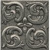 "Bedrosians Ambiance Insert Wave 4"" x 4"" Resin Tile in Pewter"