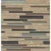 Bedrosians Interlude Random Interlock Glass and Stone Mosaic Tile in Octave