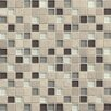 "Bedrosians Interlude Blend 3/4"" x 3/4"" Stone and Glass Mosaic Tile in Prelude"