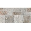 "Bedrosians Rok Listelo 6.5"" x 13"" Porcelain Mosaic Tile in Dark Antracite/Ardesia"