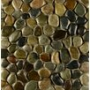 Bedrosians Hemisphere Random Sized Pebble Stone Glazed Mosaic Tile in Riverbed