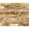 Bedrosians Onyx Linear Random Sized Marble Polished Mosaic in Caramel Swirl