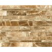 Bedrosians Onyx Random Linear Marble Polished Mosaic Tile in Caramel Swirl