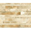 Bedrosians Onyx Linear Random Sized Marble Polished Mosaic in Manisa Cream