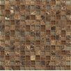 "Bedrosians Interlude Blend 3/4"" x 3/4"" Stone and Glass Mosaic in Duet"