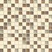 """Bedrosians Interlude Blend 3/4"""" x 3/4"""" Stone and Glass Mosaic Tile in Maestro"""