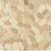 Bedrosians Hemisphere Sliced Pebble Stone Unglazed Mosaic Tile in Balboa