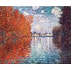 <strong>Epic Art</strong> 'Autumn Effect at Argenteuil' by Monet Painting Print on Canvas