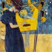 Epic Art 'Music' by Gustav Klimt Painting Print on Canvas