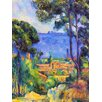 Epic Art 'The Sea at L'Estaque' by Cezanne Painting Print on Canvas