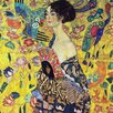 <strong>Epic Art</strong> 'Lady with Fan' by Gustav Klimt Painting Print on Canvas