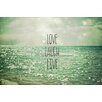 Epic Art 'Love Laugh Live' by Joy St.Claire Graphic Art on Canvas