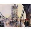 Epic Art 'After the Rain - London' by Nicolas Jolly Painting Print on Canvas