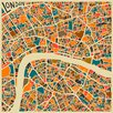 Epic Art 'Retro City Map London' by Jazzberry Blue Graphic Art on Canvas