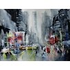Epic Art 'New York New York' by Nicolas Jolly Painting Print on Canvas