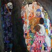 Epic Art 'Death and Life' by Gustav Klimt Painting Print on Canvas