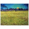 Epic Art 'Sunset on Wheat Fields Near Arles' by Vincent Van Gogh Painting Print on Canvas