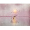 Epic Art Nature Painting Print on Canvas in Pink