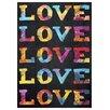 Epic Art 'Love' by Elisabeth Fredriksson Textual Art on Canvas